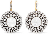 Amrapali 18-karat Gold, Silver And Diamond Earrings - one size
