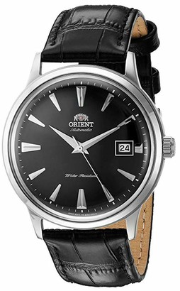 Orient Men's 2nd Gen. Bambino Ver. 1 Stainless Steel Japanese-Automatic Watch with Leather Strap Brown 21 (Model: FAC00005W0)