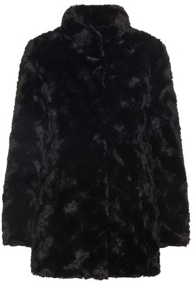 Vero Moda Fake Fur Coat - polyester | black | large - Black/Black