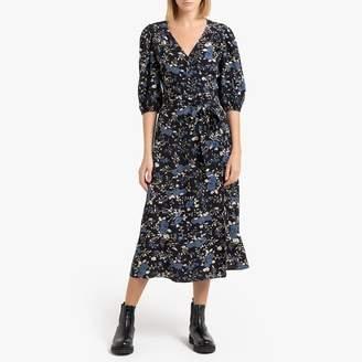 Petite Mendigote MAUD Long Wrap Dress with 3/4 Sleeves