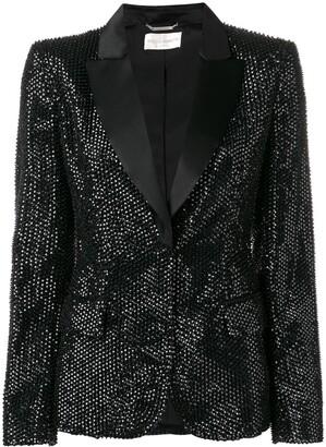 Alberta Ferretti stud embellished blazer