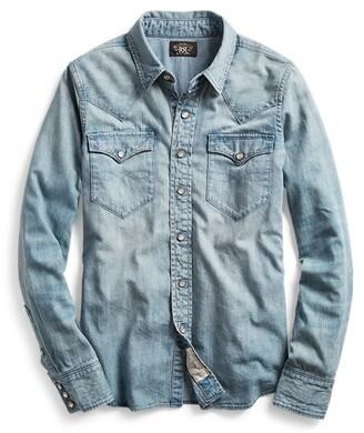 Double RL Ralph Lauren Indigo Denim Western Shirt