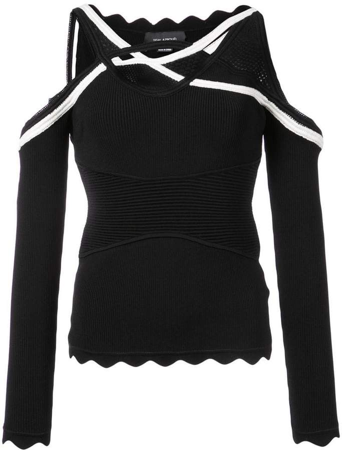 Yigal Azrouel cold shoulder knit top