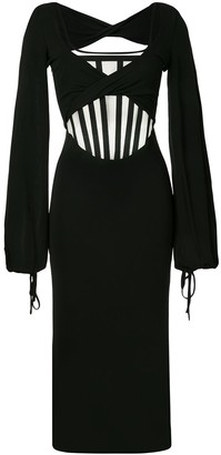 Dion Lee Twist Jersey Corset Dress