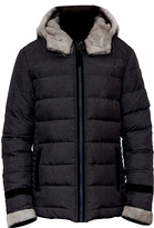 BearPaw Black Aurora Puffer Coat - Women