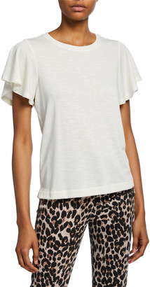 Paige Brielle Flutter-Sleeve Tee