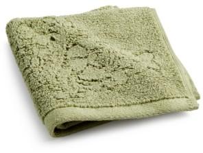 "Sunham Sculpted Floral Cotton 13"" x 13"" Wash Towel Bedding"
