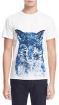 MAISON KITSUNÉ Men's 'Brushed Fox' Graphic T-Shirt