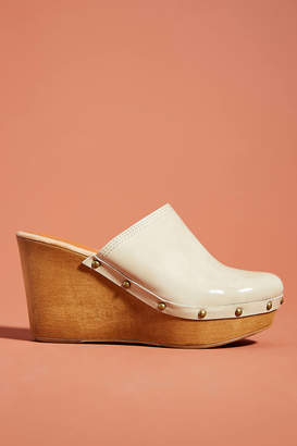 Penelope Chilvers Patent Leather Wedge Clogs