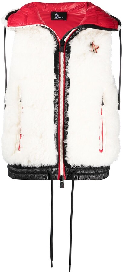 MONCLER GRENOBLE Faux Fur Padded Waistcoat