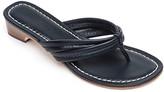 Bernardo Miami Antiqued Leather Thong Sandals