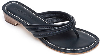 Bernardo Miami Antiqued Leather Thong Sandals