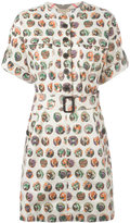 Burberry printed shirt dress - women - Cotton/Spandex/Elastane/Acetate/Cupro - 12