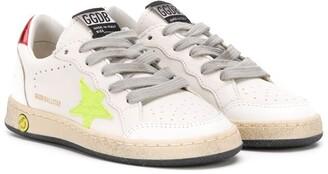 Golden Goose Kids Ballstar leather sneakers