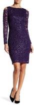 Marina Cold Shoulder Lace Sequin Dress