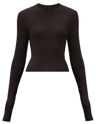 Bottega Veneta Cropped Ribbed-knit Sweater - Brown