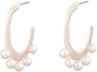 Alexis Bittar Pearl Studded Sheet Hoop Earring