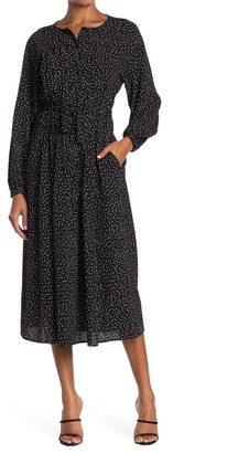 Max Studio Long Sleeve Button Front Dress