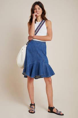 Pilcro And The Letterpress Pilcro Flounced Denim Mini Skirt