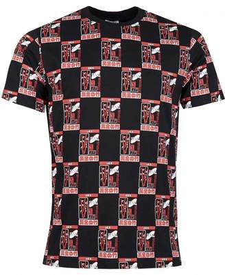 Kenzo All Over Rice Bag Crew Neck T-shirt Colour: BLACK, Size: SMALL