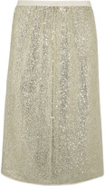 Vanessa Bruno Gregor Sequined Crepe Skirt - Silver