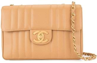 Chanel Pre-Owned 1994-1996 Mademoiselle Jumbo XL double chain shoulder bag