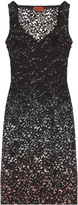 Missoni Wave Design With Lace Overlay Dress