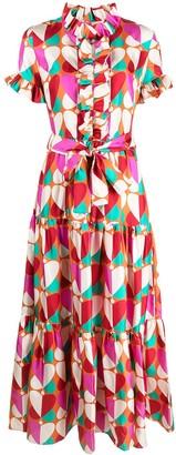 La DoubleJ All-Over Heart Print Dress