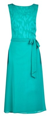 Dorothy Perkins Womens **Billie & Blossom Tall Teal Burnout Skater Dress