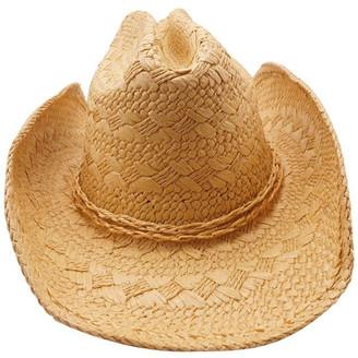 Bondi Beach Bag Co 3-7730 Natural Cowboy Fedora Sun Hat