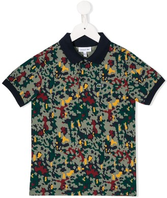 Lacoste Kids Camouflage Print Polo Shirt