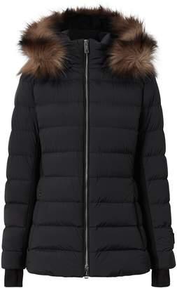 Burberry detachable faux fur trim puffer jacket