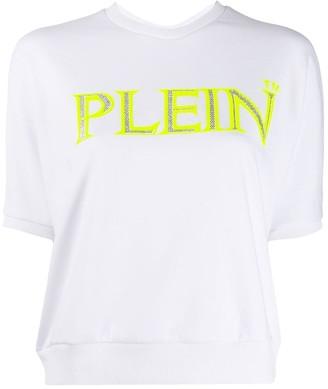 Philipp Plein Logo Print Knitted Top