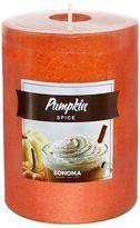 "SONOMA Goods for LifeTM 4"" x 3"" Pumpkin Spice Pillar Candle"