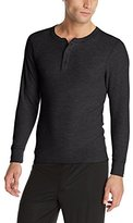 Hanes Men's Big Red Label X-Temp Thermal Shirt Long Sleeve Henley Top