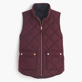 J.Crew Petite excursion quilted vest in flannel