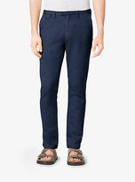 Michael Kors Slim-Fit Cotton And Linen Chinos