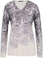 Olsen Feather print jumper