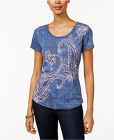 Style&Co. Style & Co. Petite Graphic T-Shirt, Only at Macy's
