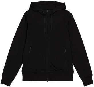 Yohji Yamamoto Back Logo Full Zip Hoodie in Black | FWRD