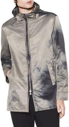 John Varvatos Men's Hooded Zip-Front Parka Coat