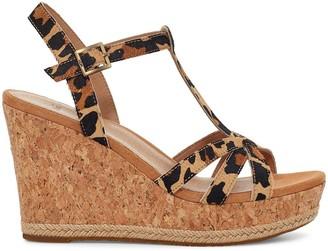 UGG Melissa Wedge Sandals - Leopard