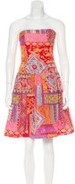 David Meister Printed Embellished Dress