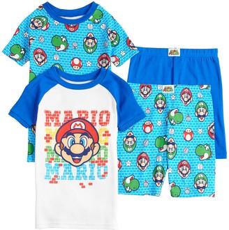 Nintendo Boys 4-12 Mario Tops & Shorts Pajama Set