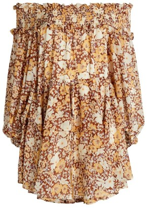 Shona Joy Dixie Off-The-Shoulder Dress