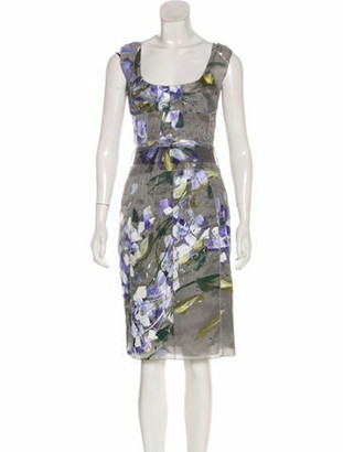 Dolce & Gabbana Printed Midi Dress Grey