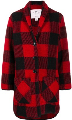 Woolrich Check Pattern Cardi Coat