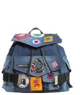 DSQUARED2 Denim Backpack With Patch