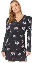ASTR the Label Marinke Dress (Black Iron/Lilac Floral) Women's Dress
