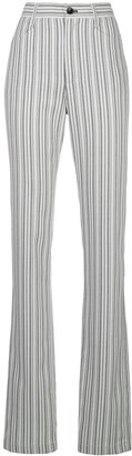 Proenza Schouler White Label Striped Suiting High Waisted trousers